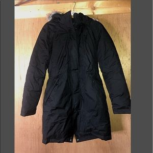 S Black The North Face Down Parka